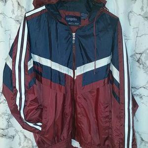 Jackets & Blazers - 🔥Vintage windbreaker striped arms red navy 🔥